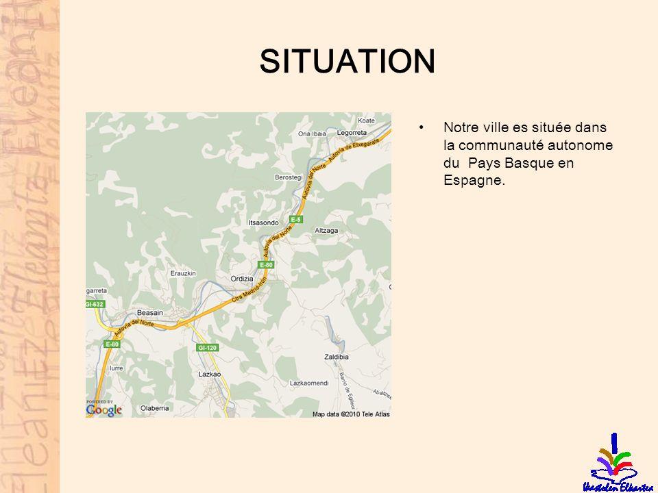 SITUATION Notre ville es située dans la communauté autonome du Pays Basque en Espagne.