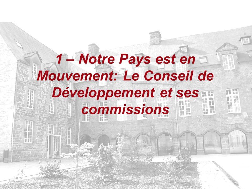 1 – Notre Pays est en Mouvement: Le Conseil de Développement et ses commissions