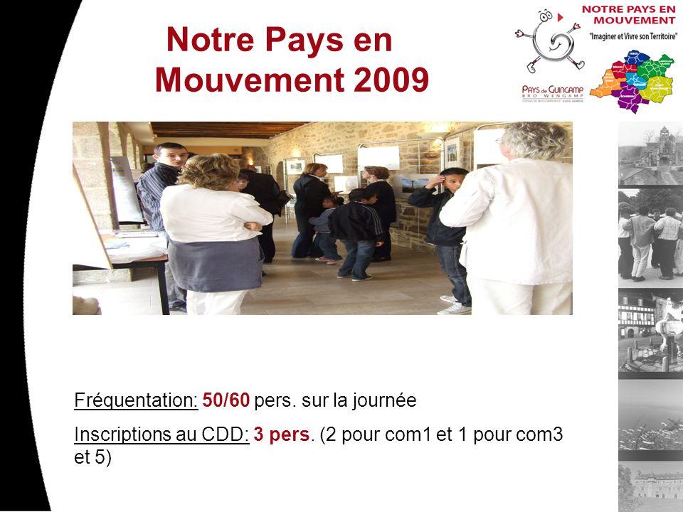 Notre Pays en Mouvement 2009 Fréquentation: 50/60 pers.