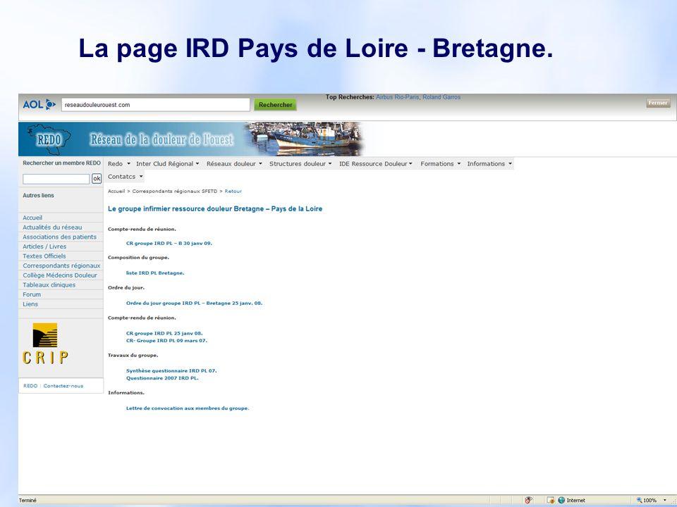 12 La page IRD Pays de Loire - Bretagne.