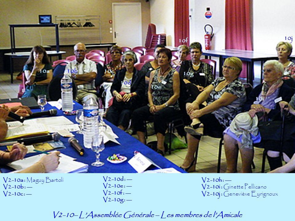 V2-10– LAssemblée Générale – Les membres de lAmicale 10a10b V2-10a : Maguy Bartoli V2-10b : --- V2-10c : --- 10f 10g 10h 10j 10c 10d 10e V2-10d : ---