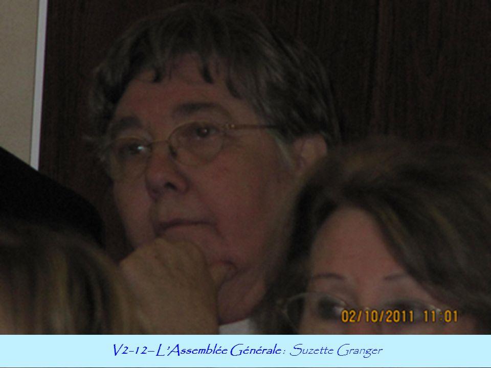 V2-12– LAssemblée Générale : Suzette Granger