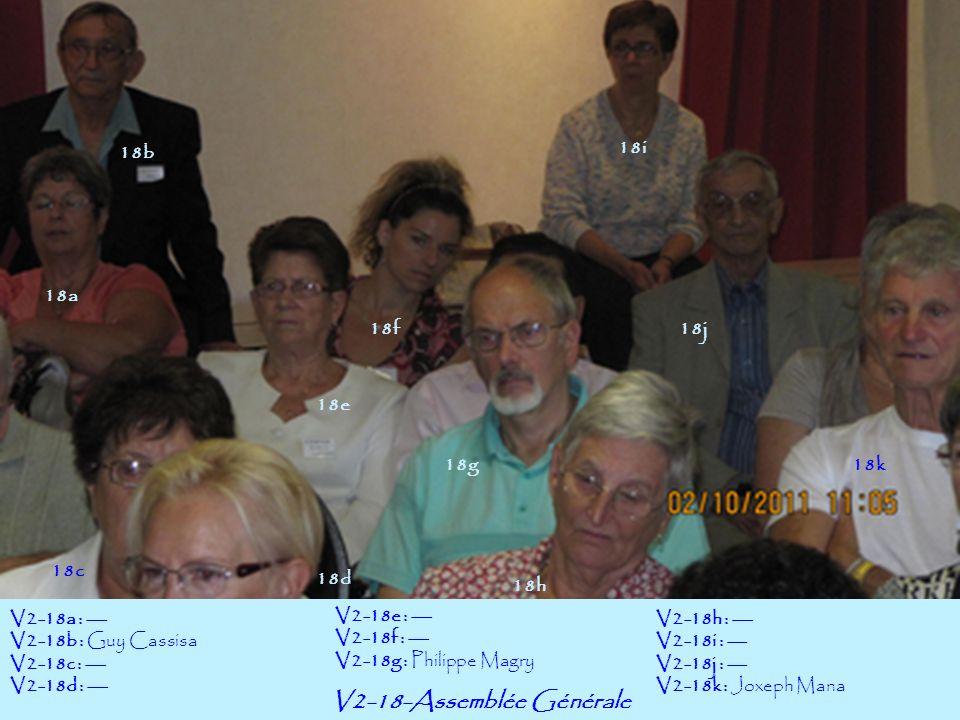 V2-18-Assemblée Générale 18a 18c 18b 18e 18f 18g 18h 18i 18k 18d V2-18a : --- V2-18b : Guy Cassisa V2-18c : --- V2-18d : --- V2-18e : --- V2-18f : ---