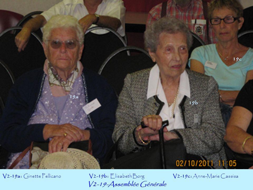 V2-19-Assemblée Générale 19b V2-19a : Ginette PellicanoV2-19c : Anne-Marie Cassisa 19a V2-19b : Elisabeth Borg 19c