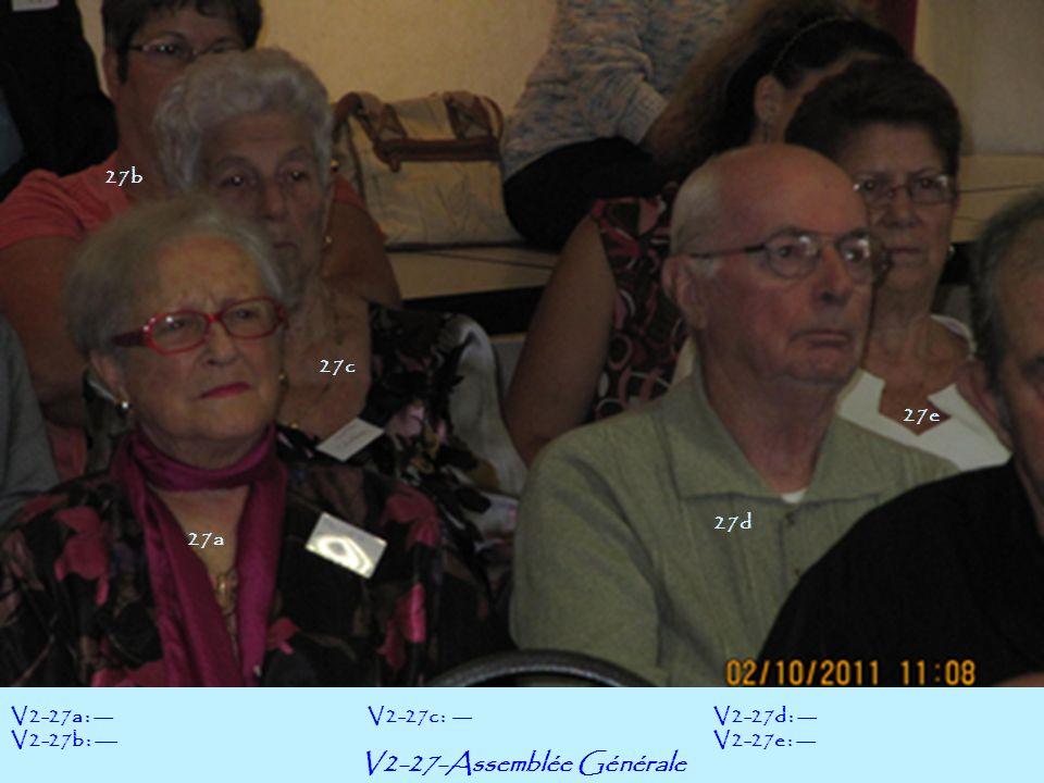 V2-27-Assemblée Générale V2-27a : --- V2-27b : --- V2-27d : --- V2-27e : --- V2-27c : --- 27b 27a 27c 27d 27e