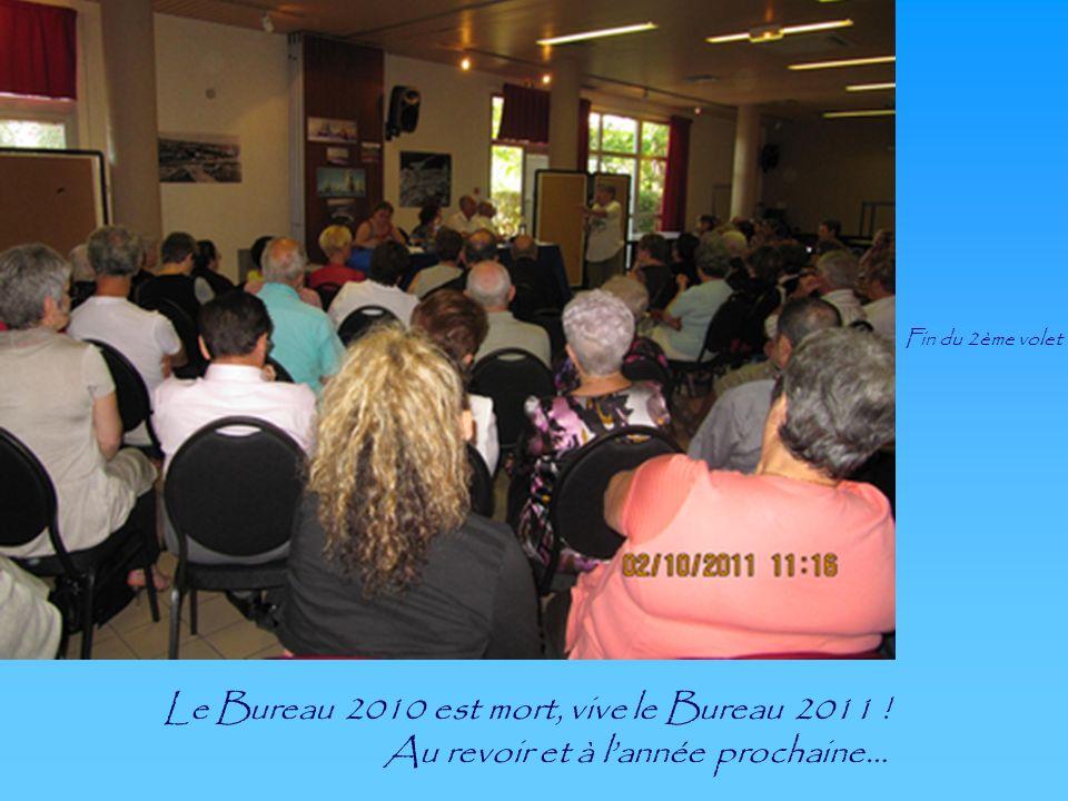 Le Bureau 2010 est mort, vive le Bureau 2011 ! Au revoir et à lannée prochaine… Fin du 2ème volet