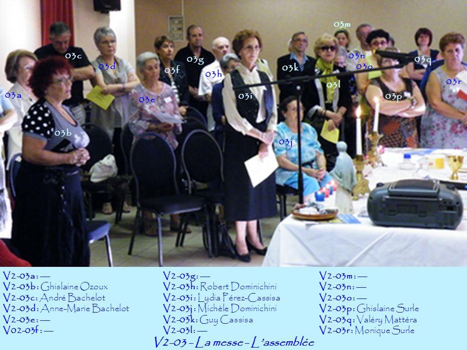 V2-04-Assemblée Générale : Le Bureau de lAmicale 04b 04c V2-04a : Sandrine PonsV2-04b : Ghislaine OzouxV2-04c : Hervé Ozoux 04a
