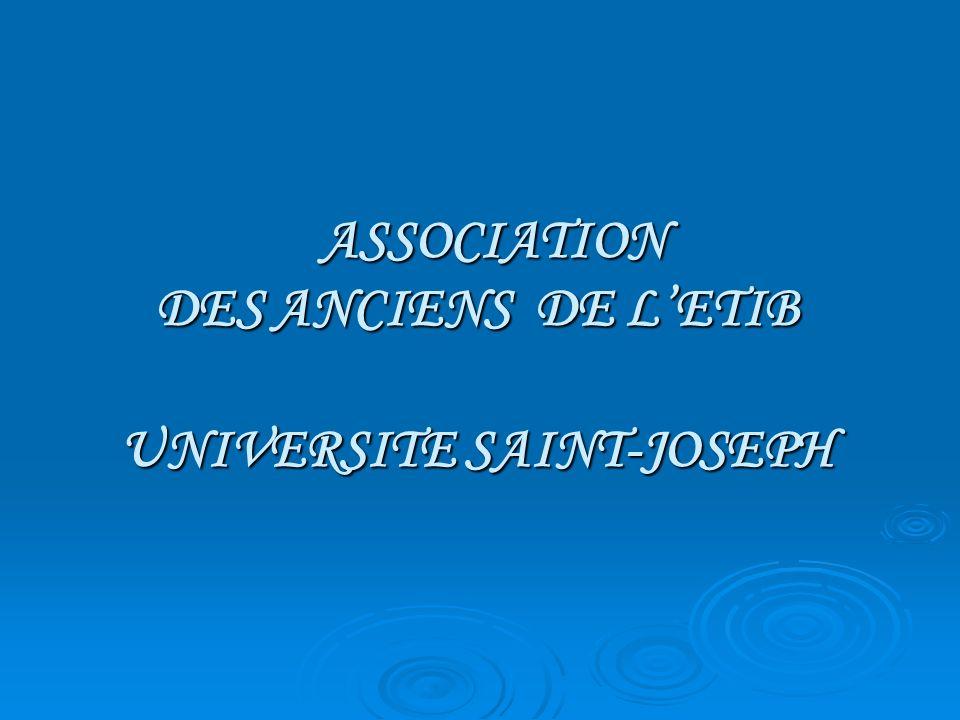 ASSOCIATION DES ANCIENS DE LETIB UNIVERSITE SAINT-JOSEPH