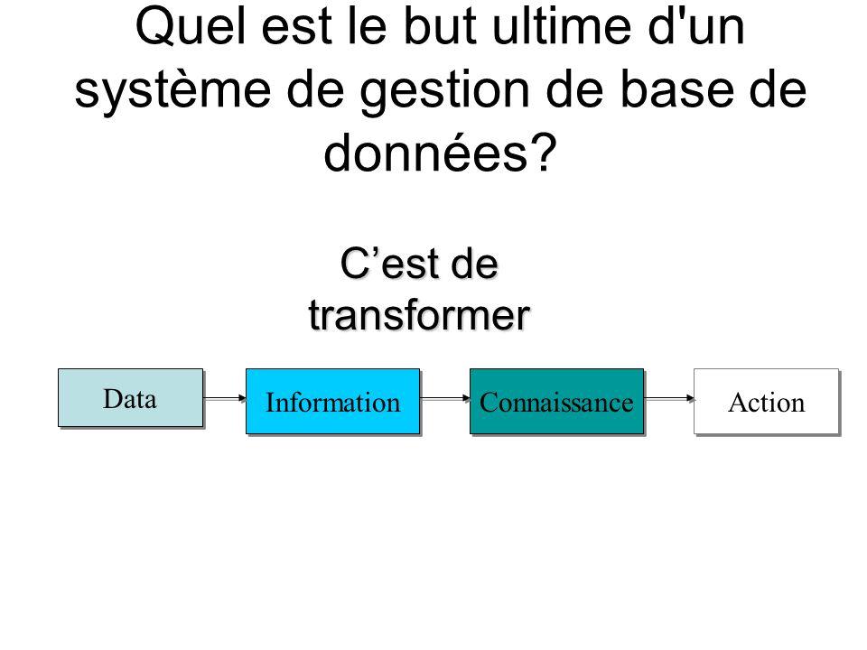 Quel est le but ultime d un système de gestion de base de données.