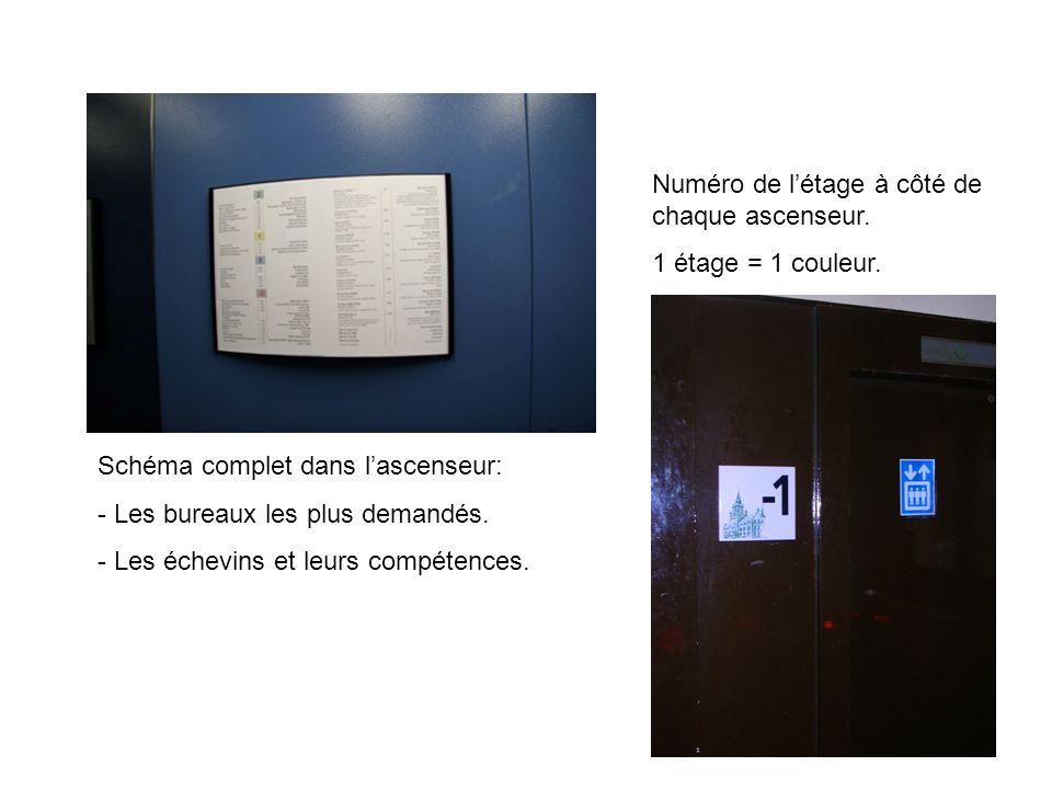 Schéma complet dans lascenseur: - Les bureaux les plus demandés.