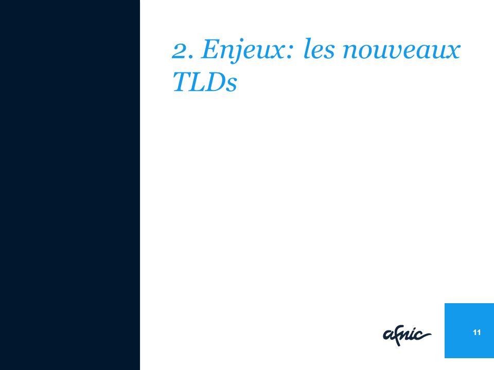 2. Enjeux: les nouveaux TLDs 11