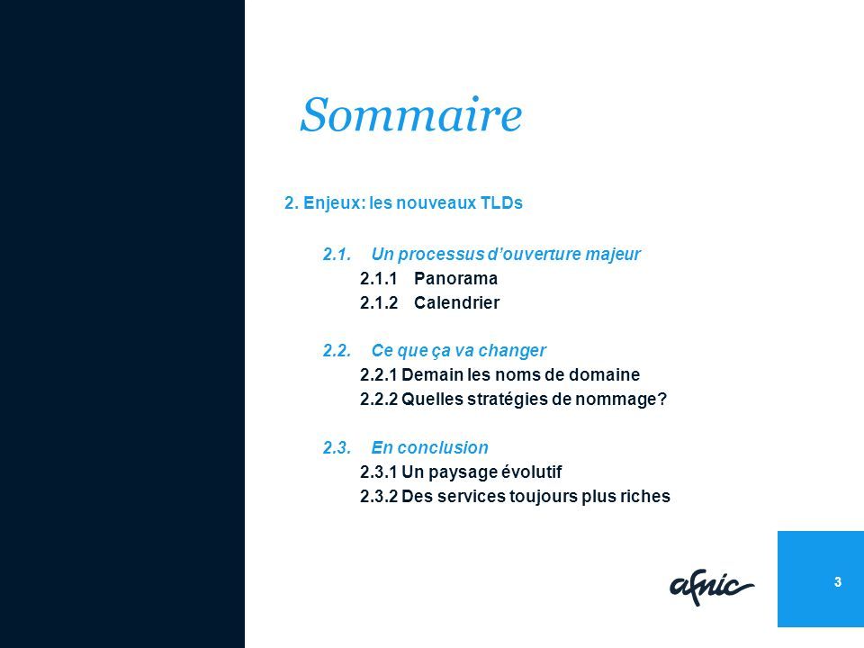 Sommaire 2.