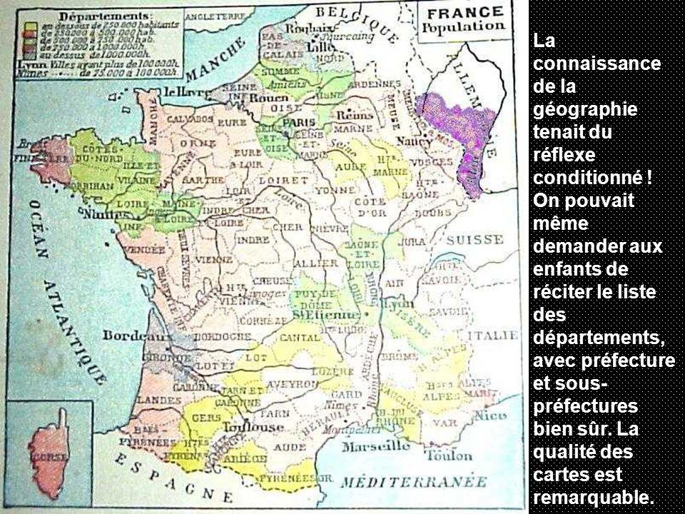 La connaissance de la géographie tenait du réflexe conditionné .