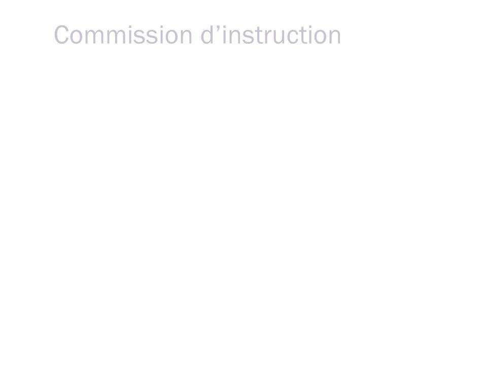 Commission dinstruction 2 ou 3 instructeurs médecins + magistrat + secrétaire Le médecin reçoit dans sa convocation toutes les explications nécessaires lui permettant de comprendre la raison pour laquelle il est convoqué.