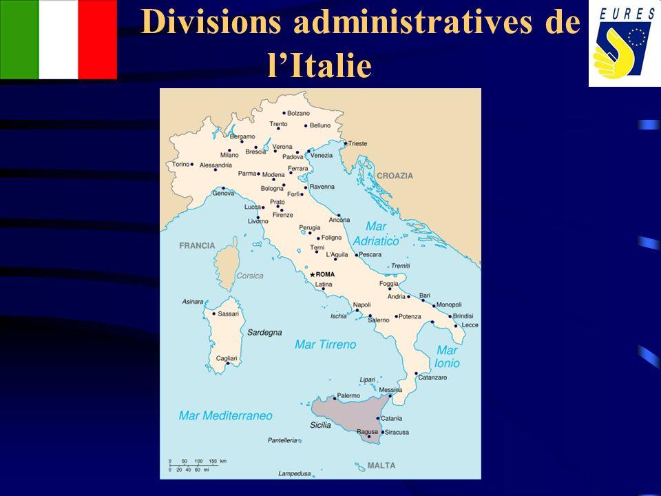 Divisions administratives de lItalie