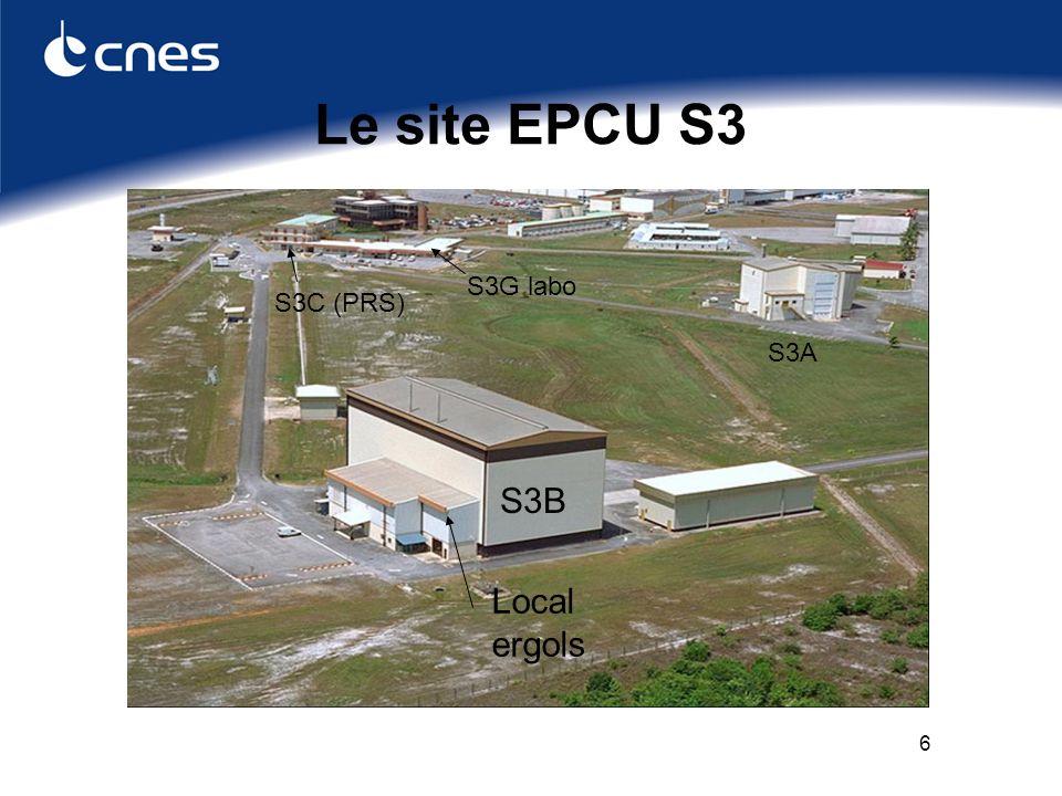 6 Le site EPCU S3 S3B Local ergols S3A S3G labo S3C (PRS)