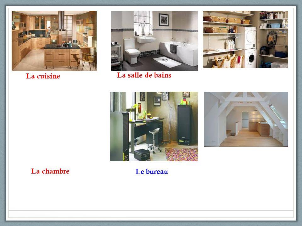 La cuisine La salle de bains La chambre Le bureau
