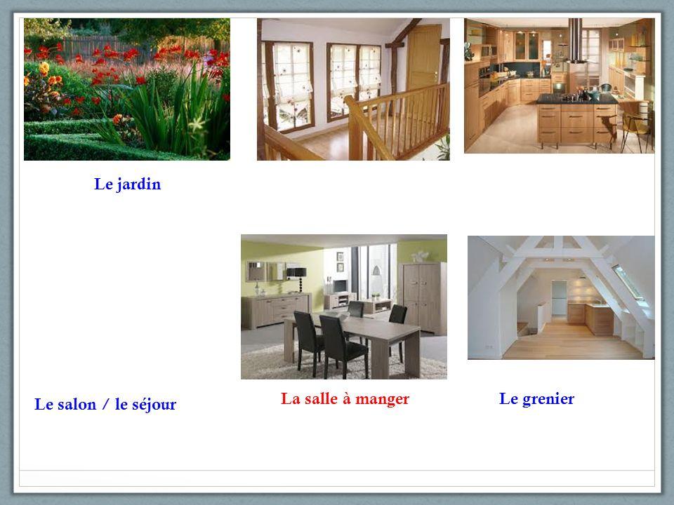 La salle à manger Le salon / le séjourLentréeLa piscine
