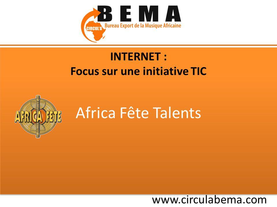 www.africafete.com Une plateforme de web-services dédiée aux acteurs des filières musicales africaines : 1.SE FORMER : fiches pratiques et contrats-types 2.SE FINANCER : label de production participative 3.SE PROMOUVOIR : site-builder 4.SE VENDRE : boutique de téléchargement payant