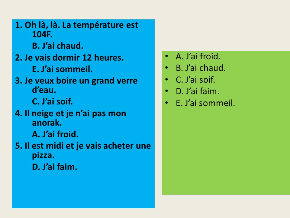 Indicate whether you would use a) savoir or b) connaître to say that you know the following things or people.