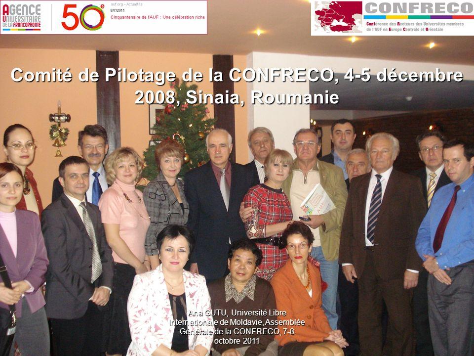 Comité de Pilotage de la CONFRECO, 4-5 décembre 2008, Sinaia, Roumanie