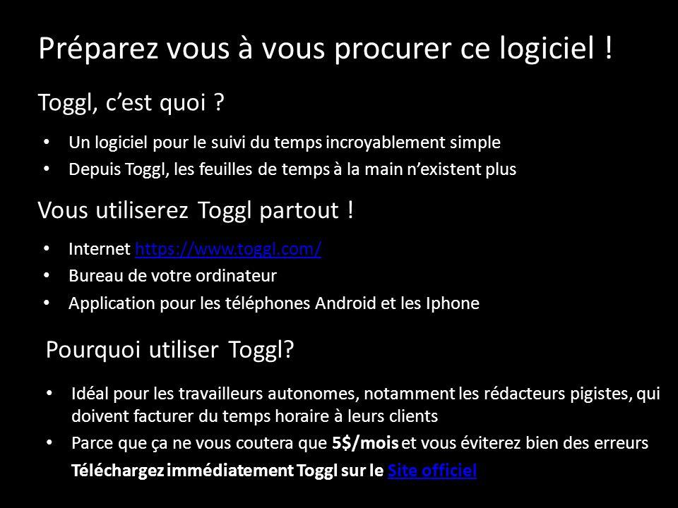Toggl, cest quoi ? Un logiciel pour le suivi du temps incroyablement simple Depuis Toggl, les feuilles de temps à la main nexistent plus Vous utiliser