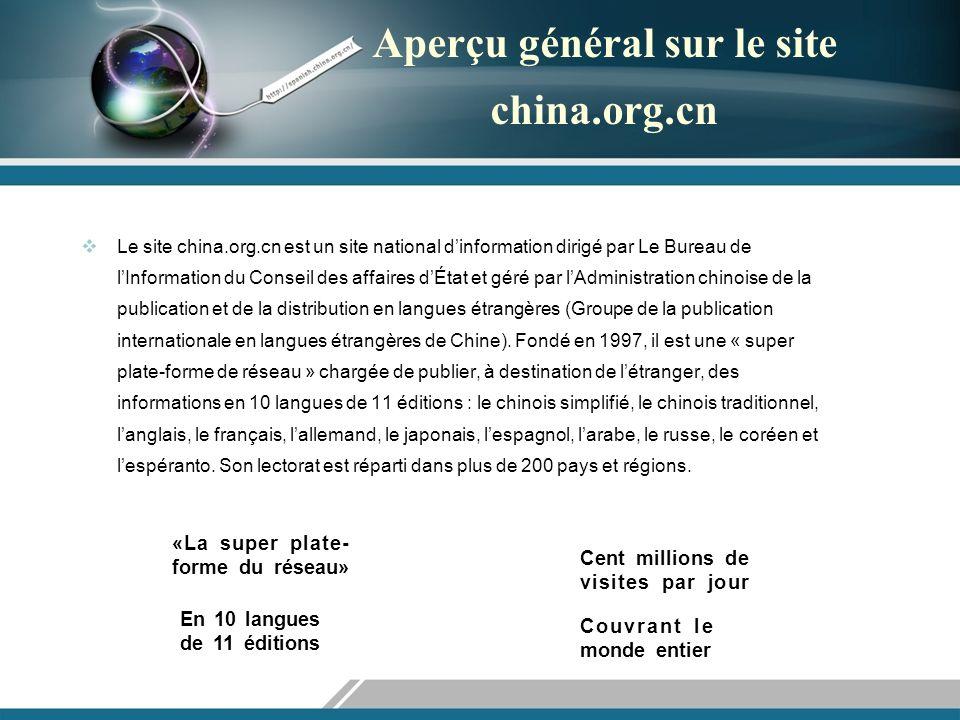Avantages du site china.org.cn