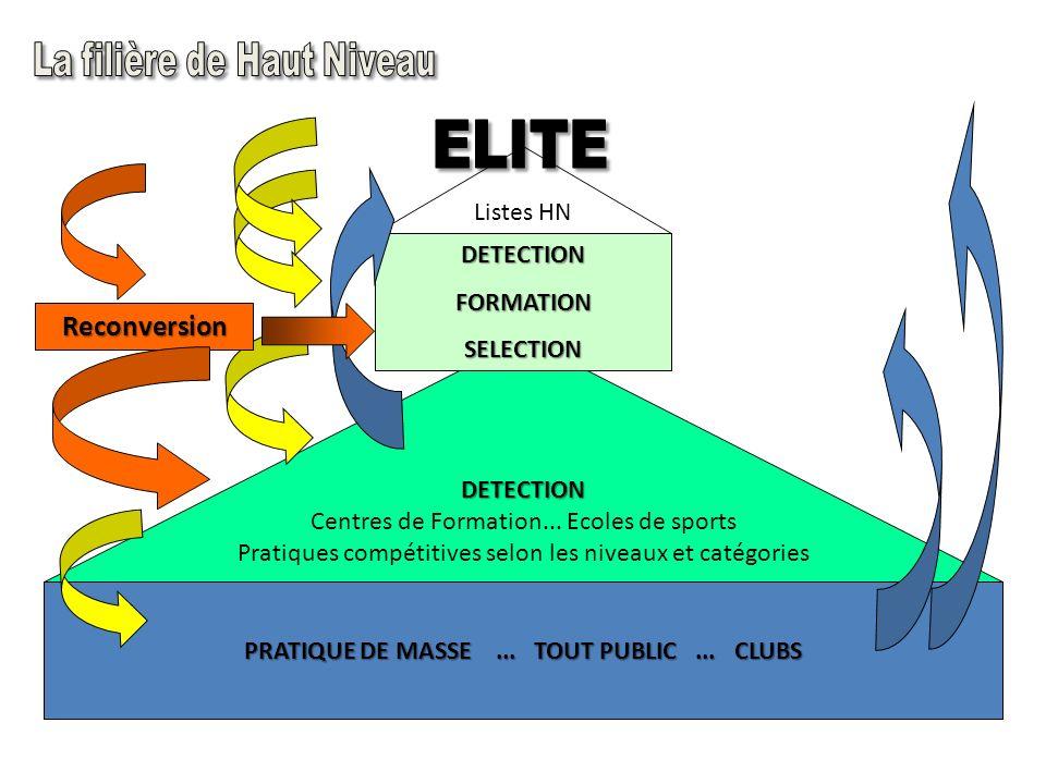 ELITE SENIOR ARBITRE ESPOIR 7163 athlètes nationaux et 8546 régionaux... Commission nationale du sport de haut niveau CNSHN (2007) RECONVERSION JEUNE