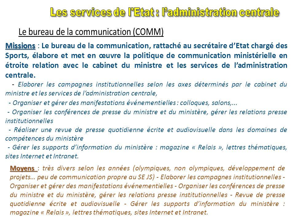 Missions Missions : Elle prépare et met en œuvre la gestion des ressources humaines. Elle est responsable de lorganisation des services centraux et dé