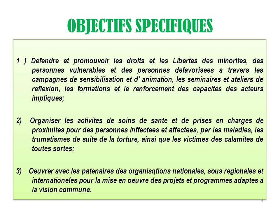 OBJECTIFS SPECIFIQUES 4