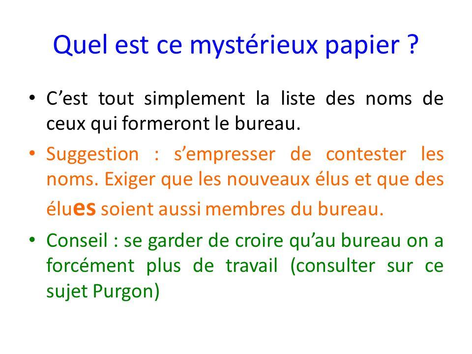 Quel est ce mystérieux papier .