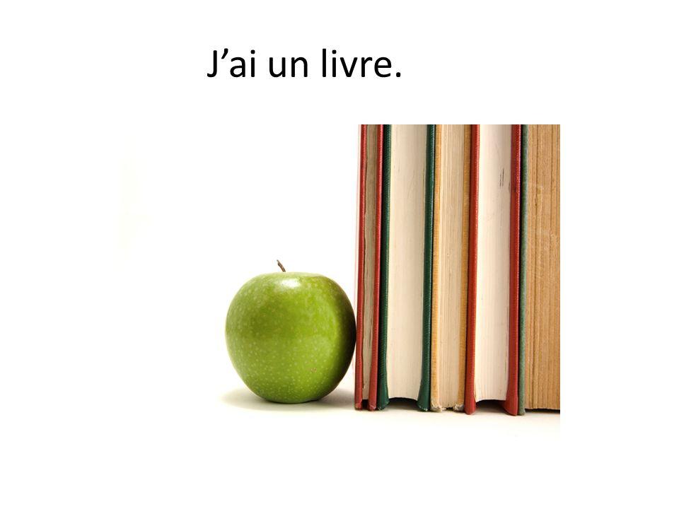 Jai un livre.