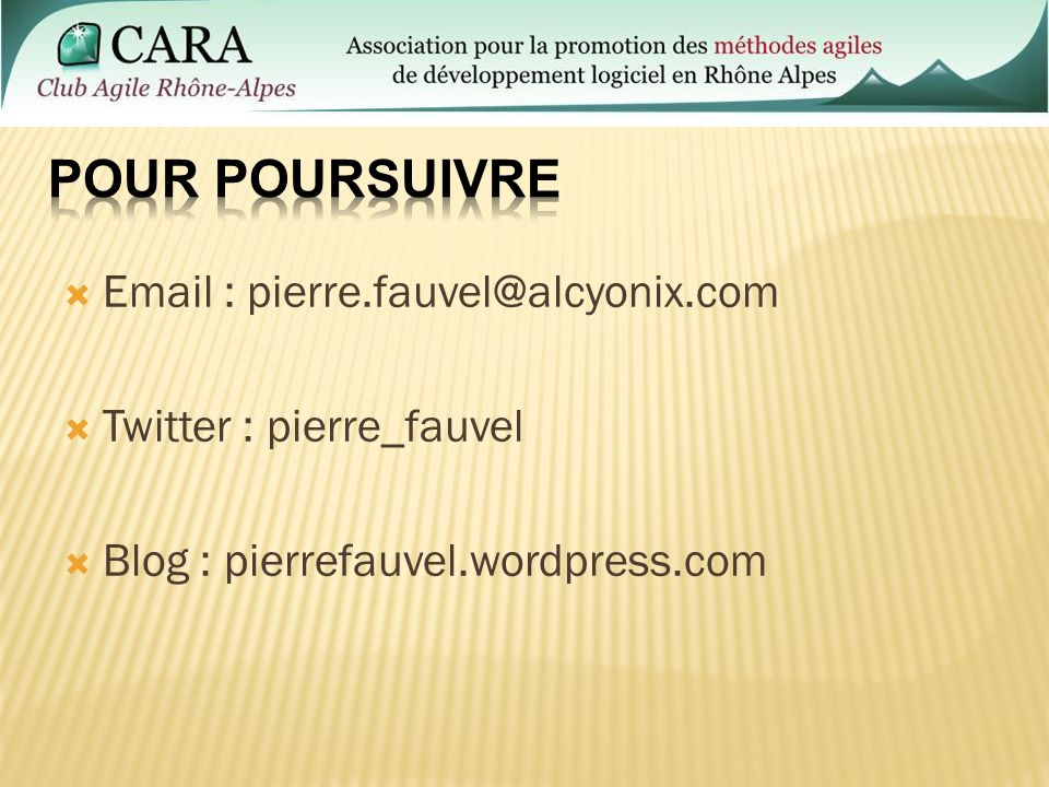 Email : pierre.fauvel@alcyonix.com Twitter : pierre_fauvel Blog : pierrefauvel.wordpress.com