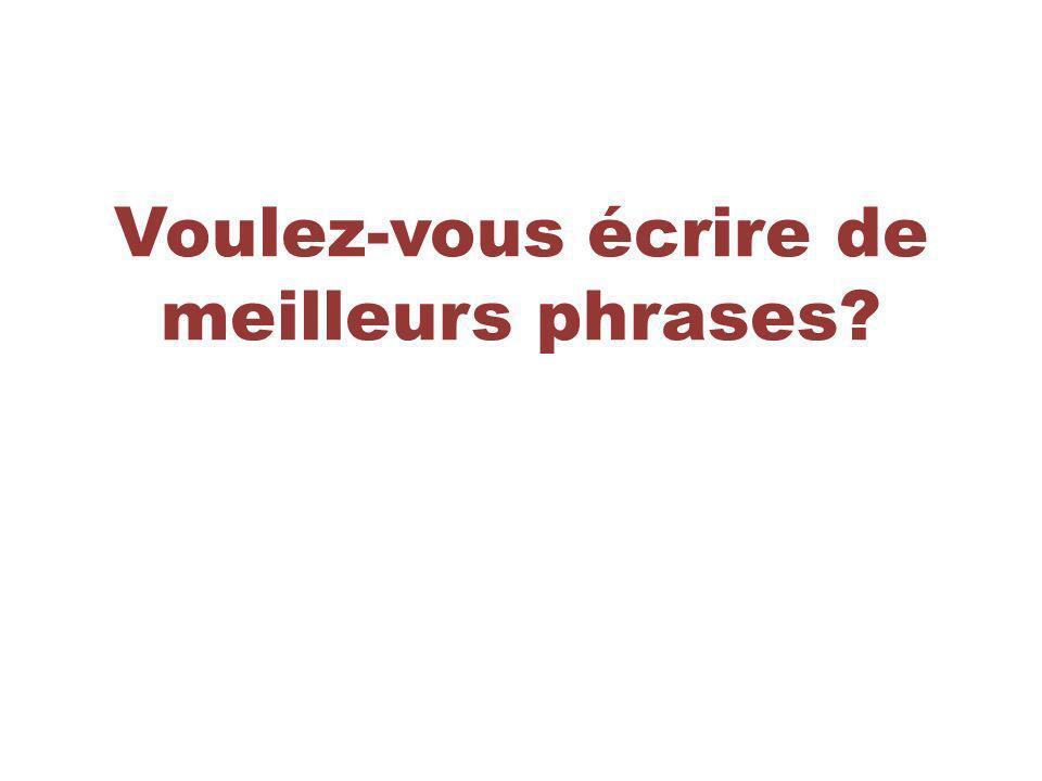 Pour ajouter de la variété et sophistication à vos phrases, utilisez des pronoms relatifs.