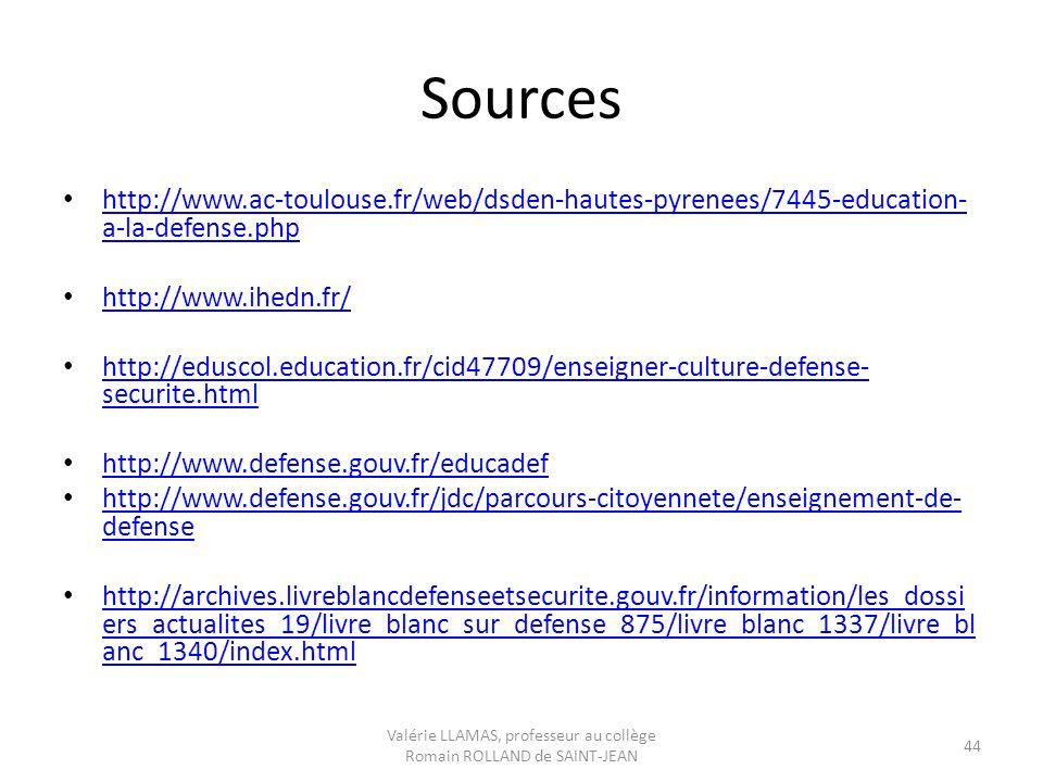 Sources http://www.ac-toulouse.fr/web/dsden-hautes-pyrenees/7445-education- a-la-defense.php http://www.ac-toulouse.fr/web/dsden-hautes-pyrenees/7445-