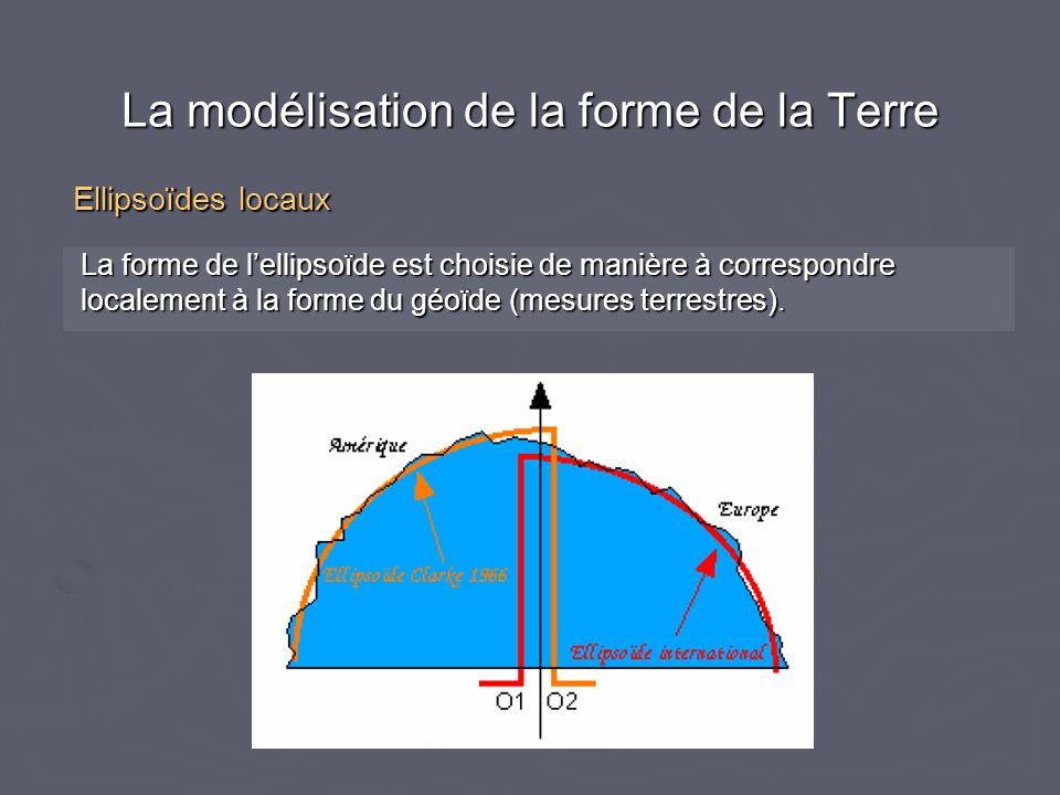 La forme de lellipsoïde est choisie de manière à correspondre La forme de lellipsoïde est choisie de manière à correspondre localement à la forme du g
