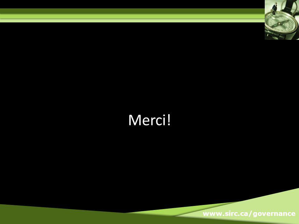 www.sirc.ca/governance Merci!