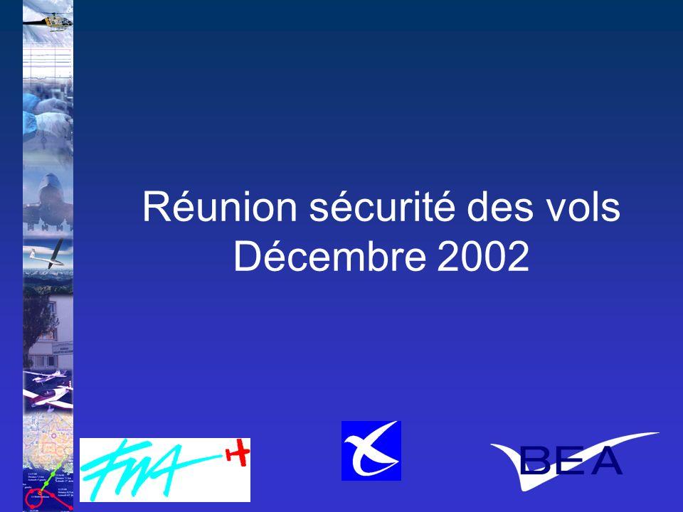 Le Bureau Enquêtes-Accidents 1 Réunion sécurité des vols Décembre 2002