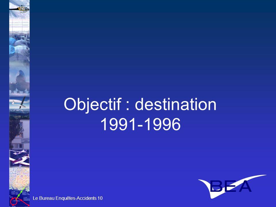 Le Bureau Enquêtes-Accidents 10 Objectif : destination 1991-1996