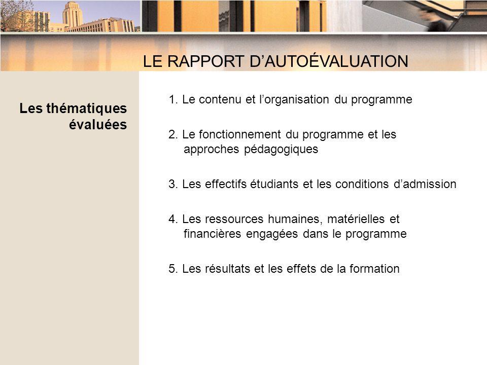 1. Le contenu et lorganisation du programme 2.