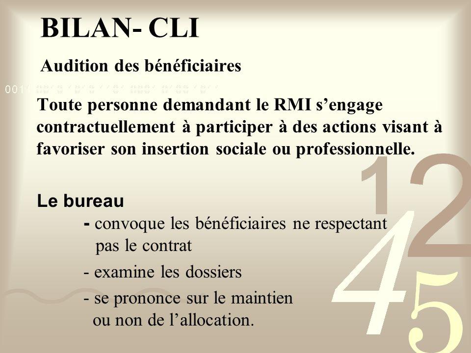 Toute personne demandant le RMI sengage contractuellement à participer à des actions visant à favoriser son insertion sociale ou professionnelle.