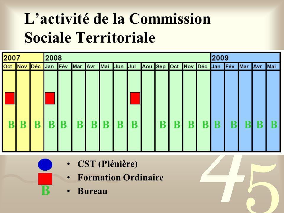 CST (Plénière) Formation Ordinaire Bureau Lactivité de la Commission Sociale Territoriale B BBBBBBBBBBBBBBBBBBB