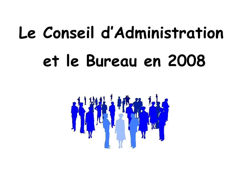 Le Conseil dAdministration et le Bureau en 2008