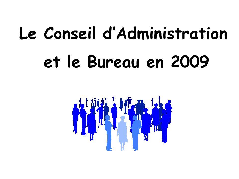 Le Conseil dAdministration et le Bureau en 2009