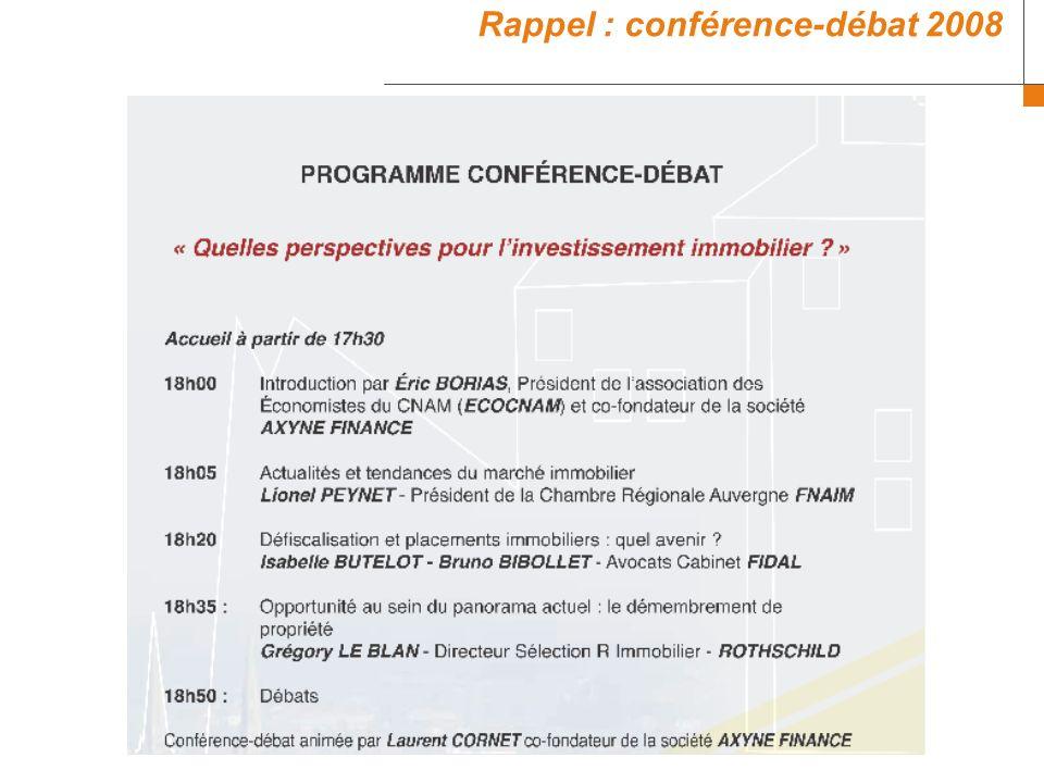 Rappel : conférence-débat 2008