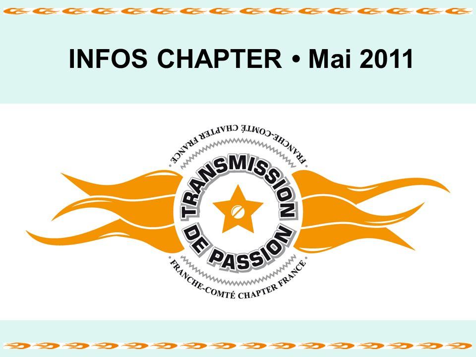 INFOS CHAPTER Mai 2011 Franche-Comté Chapter France