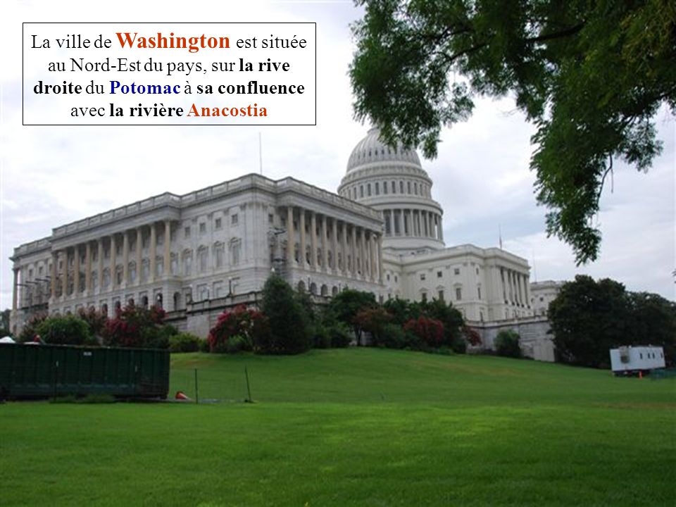Washington, district de Columbia est la capitale fédérale des États-Unis.