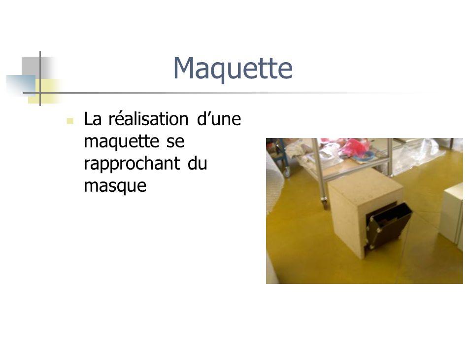 Maquette La réalisation dune maquette se rapprochant du masque