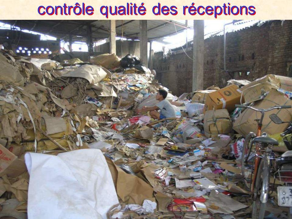 contrôle qualité des réceptions