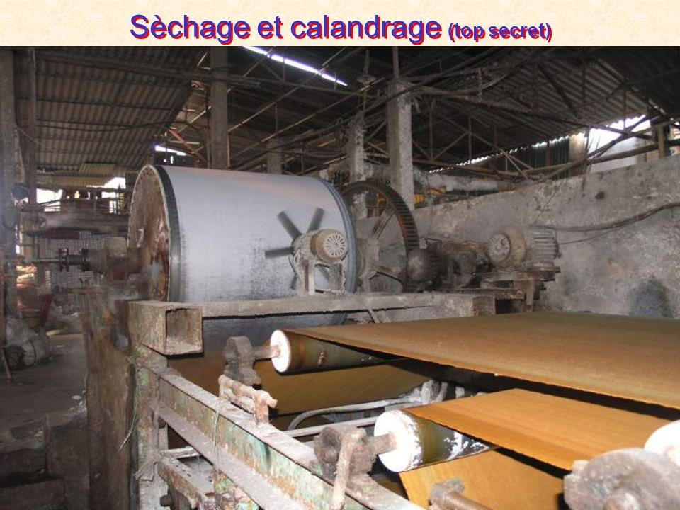 Sèchage et calandrage (top secret)